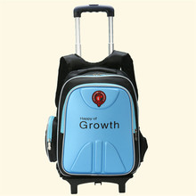 16 in School Bag for Boys Girls with two lighting Wheels Backpack Children Travel Bag Rolling Luggage Schoolbag Mochilas Bagpack(China (Mainland))