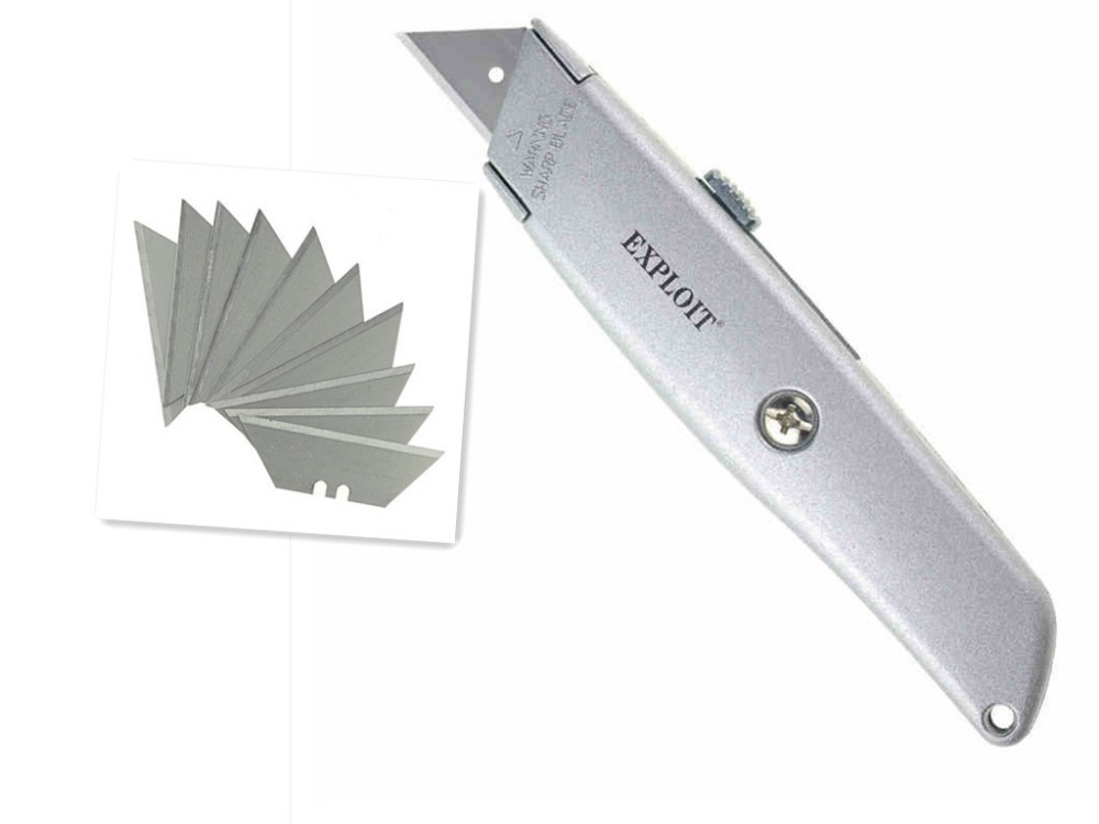Heavy carpet cutter utility knife wallpaper knife hardware tools renovated with ten blades free shipping(China (Mainland))
