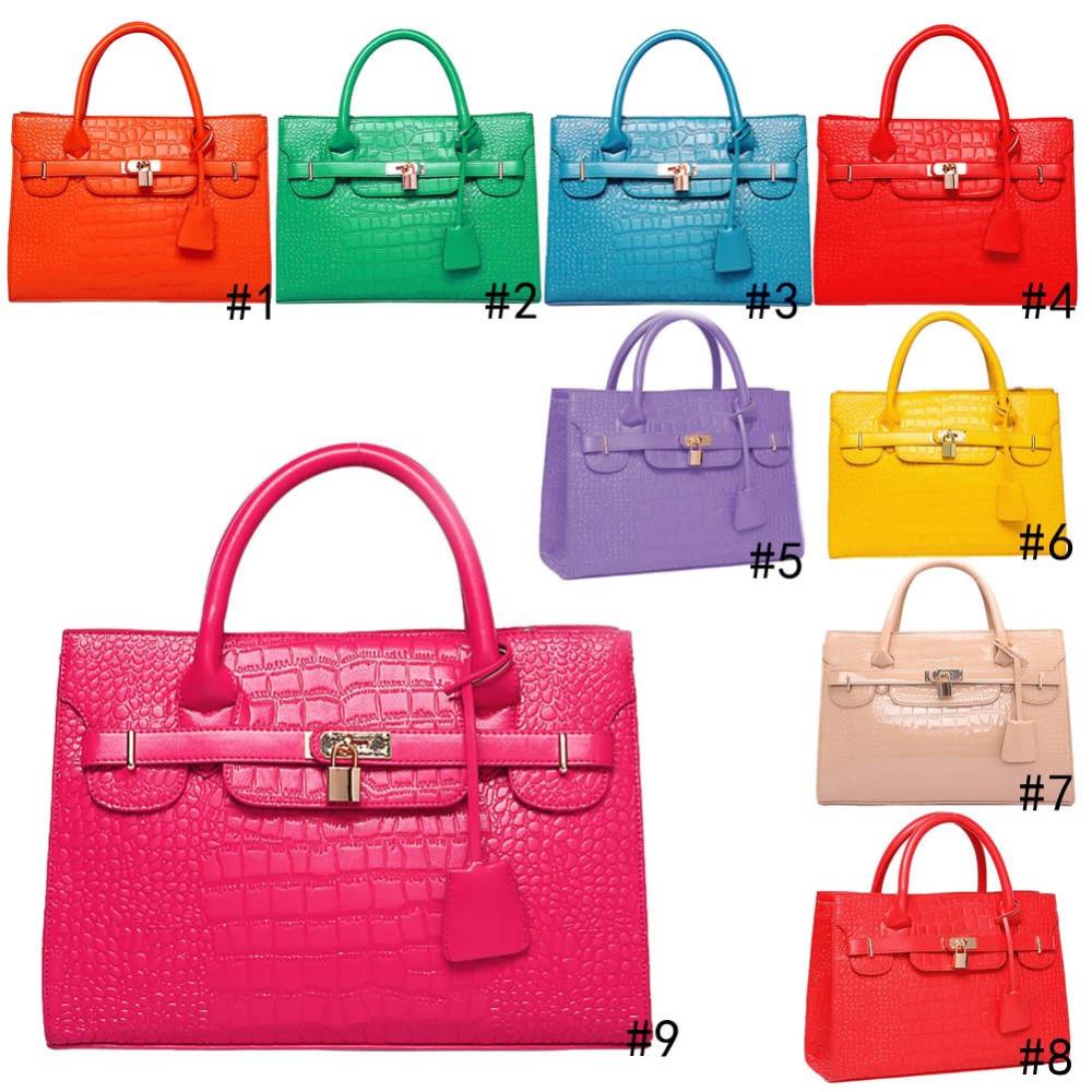 Fashion Women's Alligator Pattern PU Leather Handbag Shoulder Bag Tote Purse Messenger Hobo 9 Color(China (Mainland))