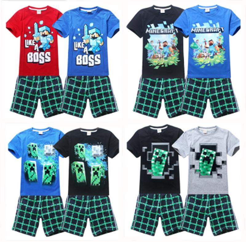 2015 Hot Sale Creeper Short Sleeve T-Shirt Shirt Kids Children Tops Tees Shorts Pants Boy Clothing Set(China (Mainland))
