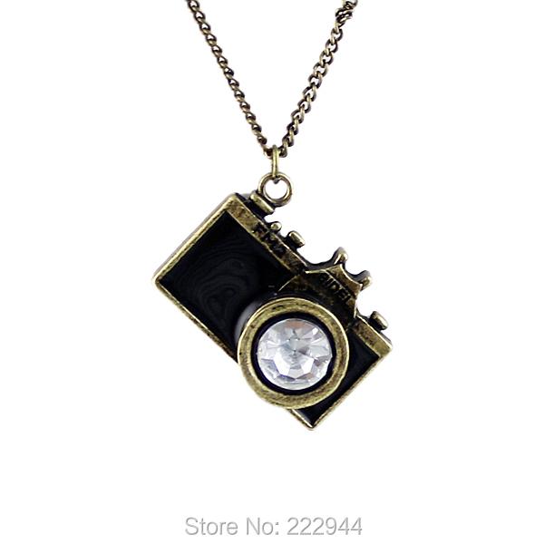 Vintage Jewelry Camera Necklaces Pendants Hot Sale Enamel Five Color Lovely Fashion Designer Bijoux(China (Mainland))