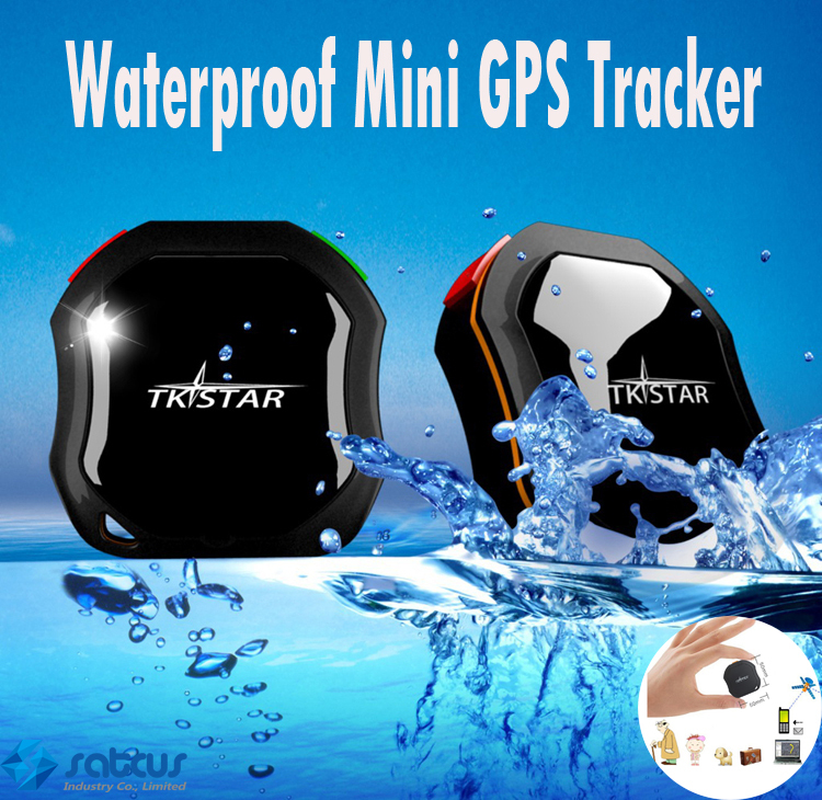 Vehicle Waterproof Mini GPS Tracker Global Real Time TKSTAR GPS Tracker GSM GPRS Tracking Children Pets Cars SOS communicator(China (Mainland))