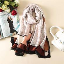2017 summer new luxury brand women scarf fashion print quality silk scarves designer shawls and wraps long size bandana foulard(China)