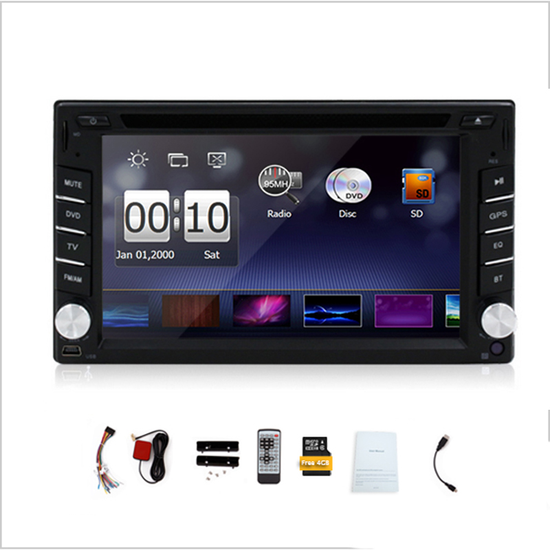 2016 Universal Car Radio Double 2 din Car DVD Player GPS Navigation in Dash Car Stereo video with Free Map(China (Mainland))