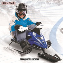 kids snow sled with brake + adjustable seat + easy tow rope snowboard scooter children motorcycle winter sledge ski car sleigh(China (Mainland))