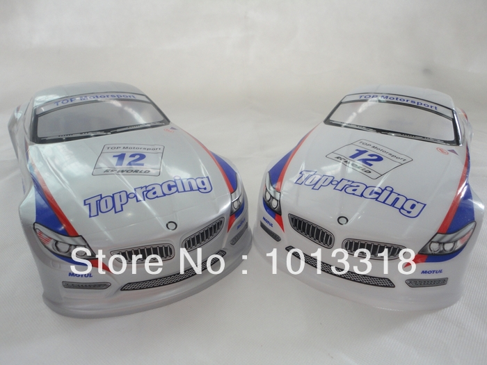 190mm PVC painted  Shell body for 1:10 1/10 RC car  item No 42 white/silver<br><br>Aliexpress