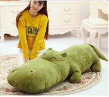 big new lovely cartoon hippo toy plush green hippo doll gift about 140cm
