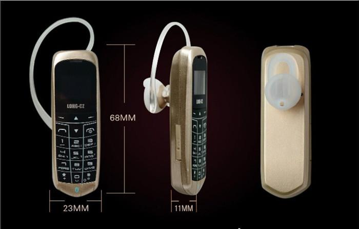 5pcs/lot Mini Phone LONG-CZ J8 Bluetooth FM Radio Headphone Function with Micro SIM Card GSM Network Hands Free Bluetooth Dialer(China (Mainland))
