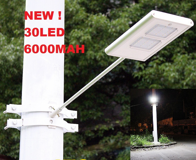 30LED 6000MAH Motion Sensor LED Solar Street Light Wall Lamp Solar Powered Pa