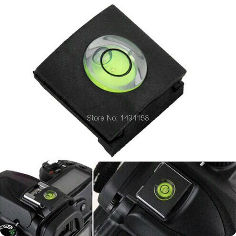 100PCS/LOT FREE SHIPPIPNG <font><b>DSLR</b></font> 1PCS/LOT Camera Bubble Spirit Level + Hot Shoe Protector Cover for Nikon Canon <font><b>Fuji</b></font>