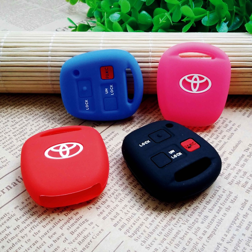Car Silicone Toyota Tarago RAV4 Corolla Camry Celica Avalon Car Keychain case flip key set jacket Cover case remote keys styling(China (Mainland))