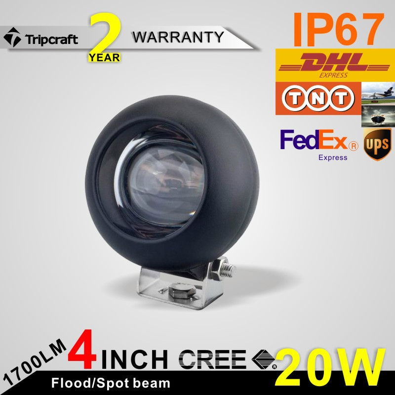 "Фотография 4 pcs Hotsale CREE 20W LED working light bar 4"" led driving light bar for 4x4"