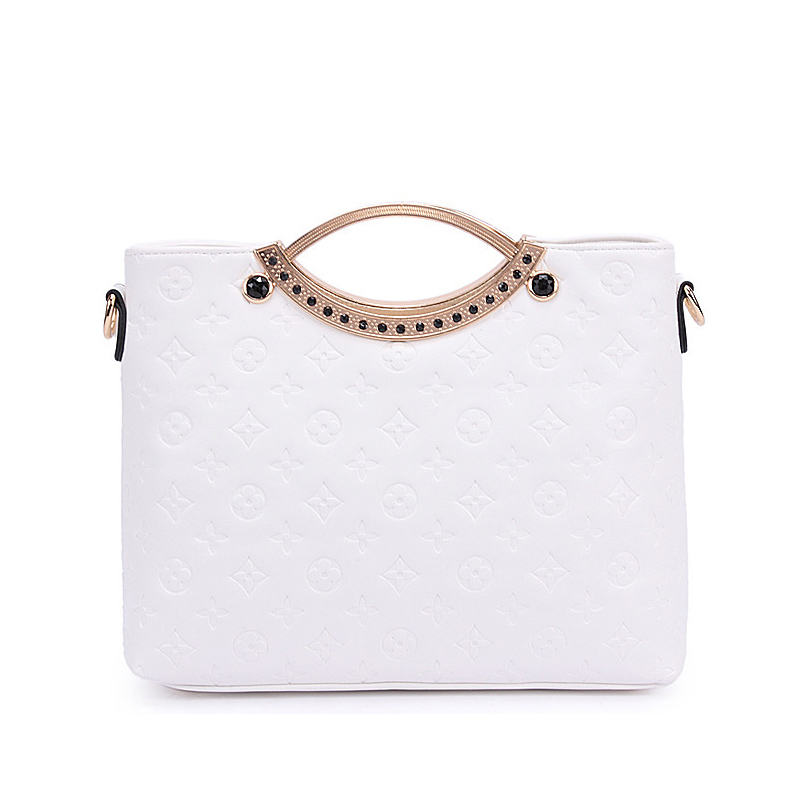 New 2016 Women Tote Bags Metal Handle PU Leather Handbags Brands Designer Embossing Candy Color Shoulder Messenger Bags AB0055(China (Mainland))