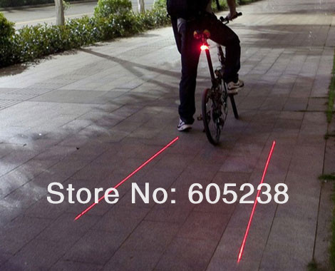 Wholesale 50 pcs Bicycle Laser Lane Marker / Bike Lane Safety Light Rear Light  bike life necessary<br><br>Aliexpress