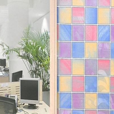 Lattice FROSTED PRIVACY GLASS STATIC CLING STICKY BACK VINYL FILM WINDOW 45cmx2M(China (Mainland))