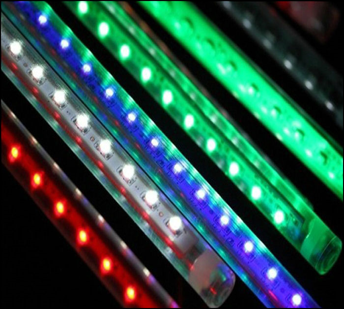 RGB LED Meteor Lights Rain Drop Shower Christmas Tree Lamp 50cm SMD5050 Green