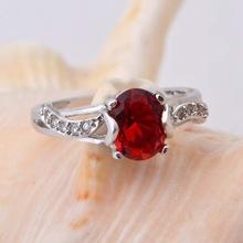 Women s Wedding Engagement Rings Red Ruby Blue Crystal Purple Amethyst Micro Pave CZ Diamond Vintage