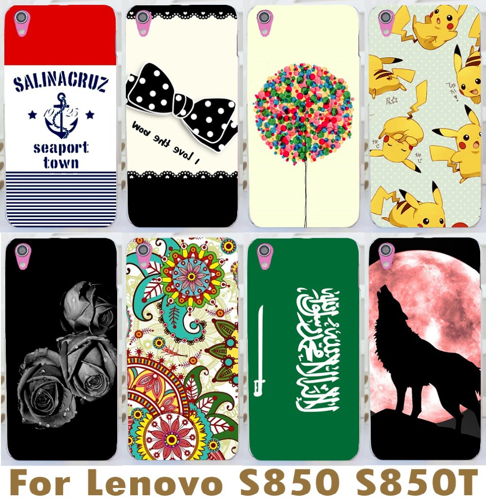 2015 Rushed Sale Protective Skin Shell Cover Case Hotsale For Lenovo S850 S850t Newest Pattern Hard Back 1pc Freeshipping Cool(China (Mainland))