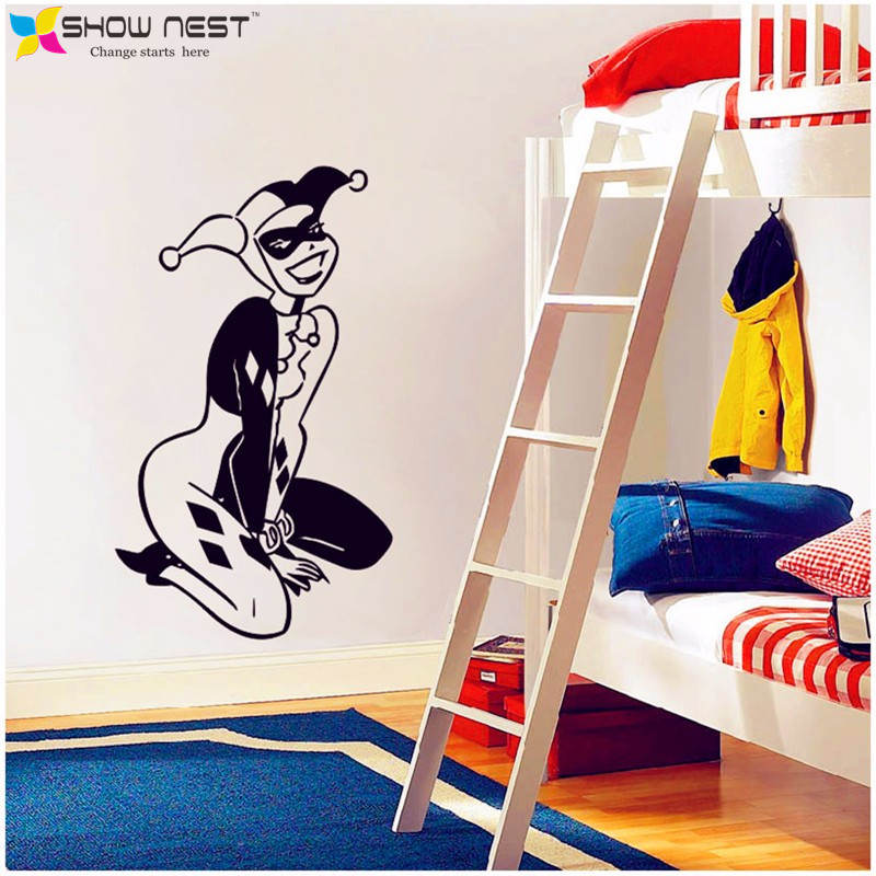 Achetez en gros batman joker autocollant en ligne des for Harley quinn bedroom ideas