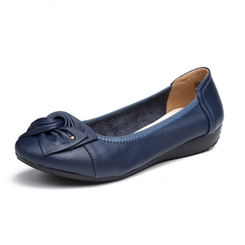 handmade genuine leather ballet flat shoes