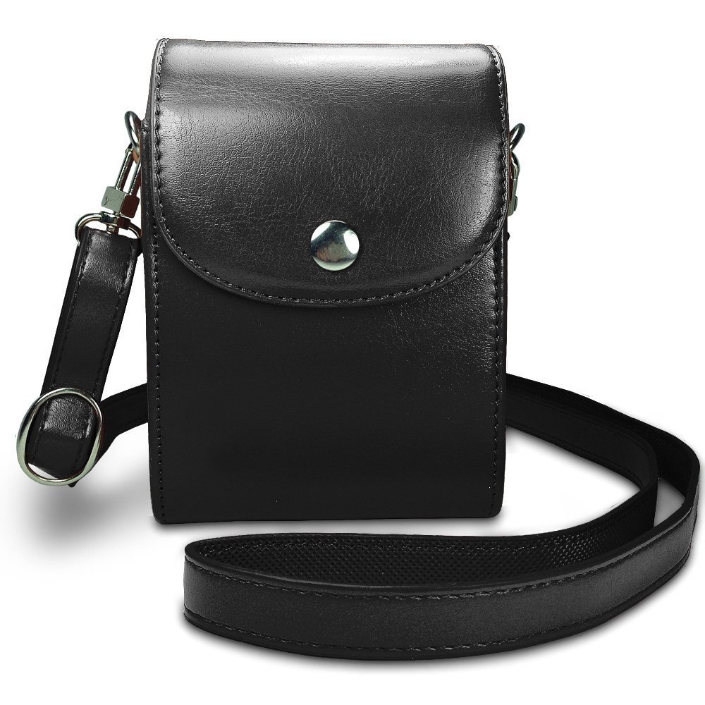 Leather Compact Case with Magnetic Closure and Strap Compatible Shoot Digital Camera(China (Mainland))