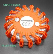 9 в 1 многофункциональный из светодиодов сигнальная лампа 16 светод. 9-Mode водонепроницаемый ударопрочный красный Llight светофоры