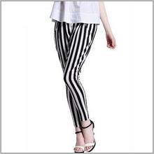 2015 summer casual women pants women's trousers print striped elastic waist pants for women pantalones AG-2518(China (Mainland))