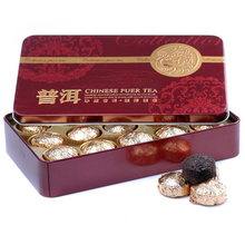 Hot Sale Chinese Mini Yunnan Puer Black Tea 15pcs Golden Package Pu er Puerh Tea Cake
