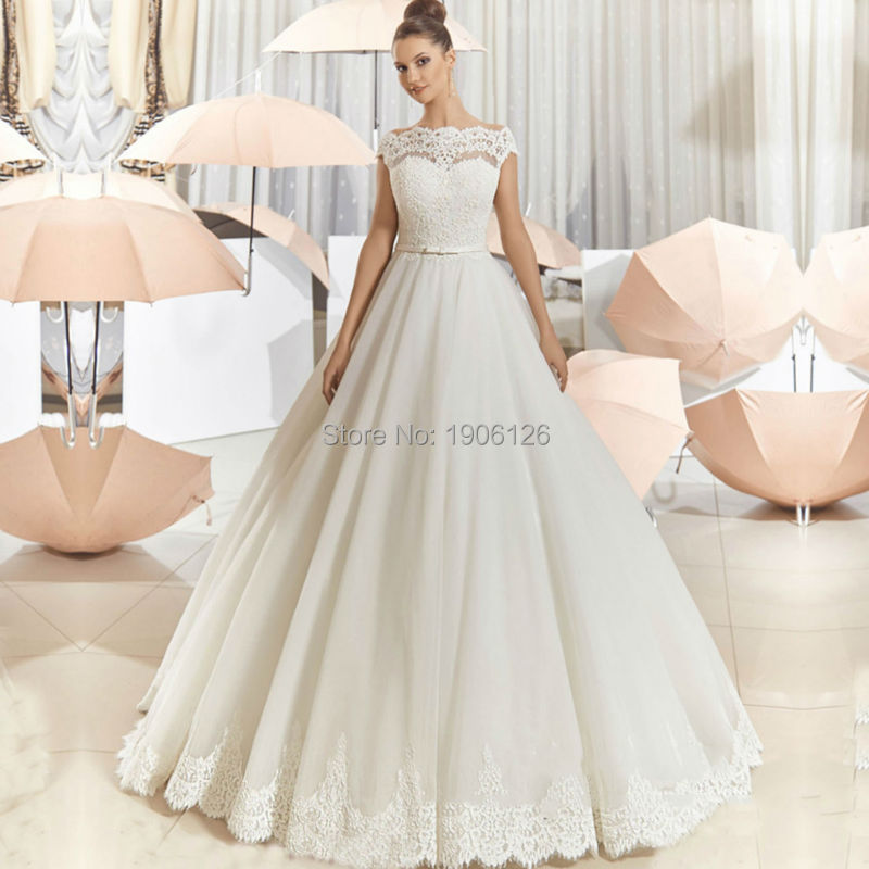 Christmas white ball gown wedding dresses 2016 vintage bridal dress