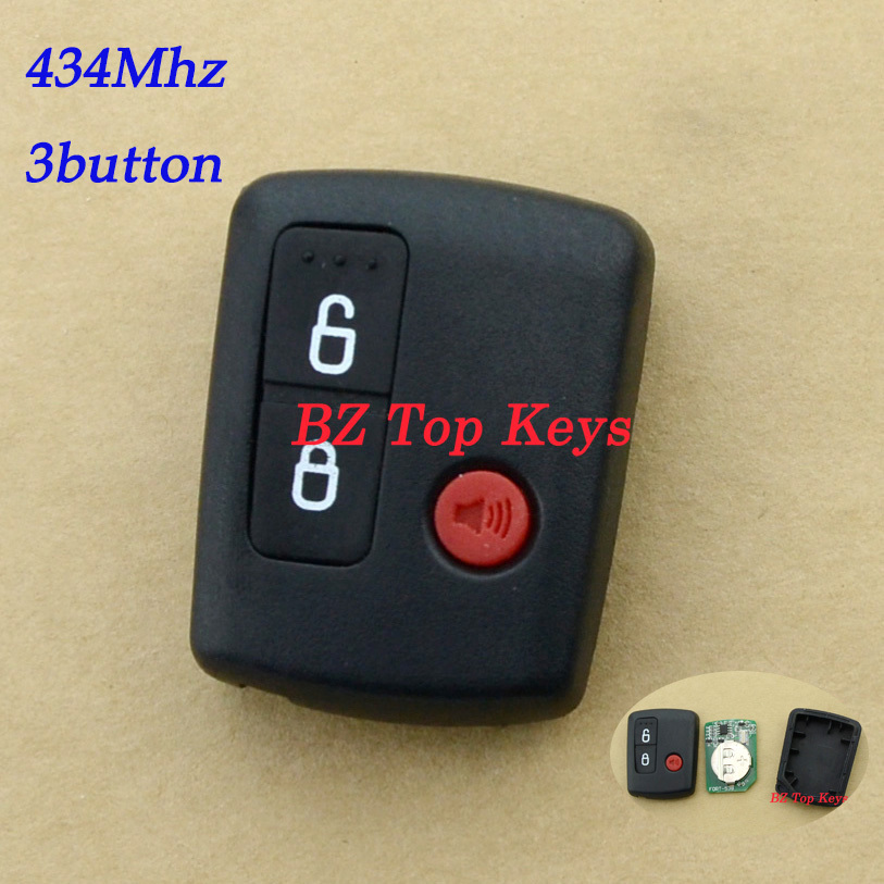 F0080 DHL free ship Remote car alarms fob BA15K601A 3button 434Mhz for Ford BA BF Falcon Central Locking Keyless Car Remote fob(China (Mainland))