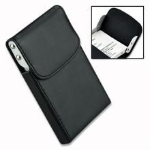 Natale leather pocket carta di credito aziendale caso holder nero EG0119(China (Mainland))