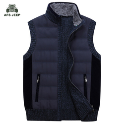 Pu Cotton New 2015 Autumn Spring Men Vest Casual Waistcoat Jacket Vests Brand Big Size L-3XL A3085