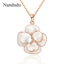 Buy Nandudu Blooming Flower Pendant Necklace New Arrival Women Girl Chain Necklaces Gift Wedding Engagement CN255 for $4.58 in AliExpress store