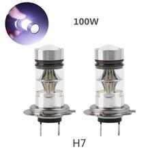 CREE 2pcs H7 100W High Car LED Fog Tail Driving Light Lamp Bulb White Bright 12-24V Free Shipping(China (Mainland))