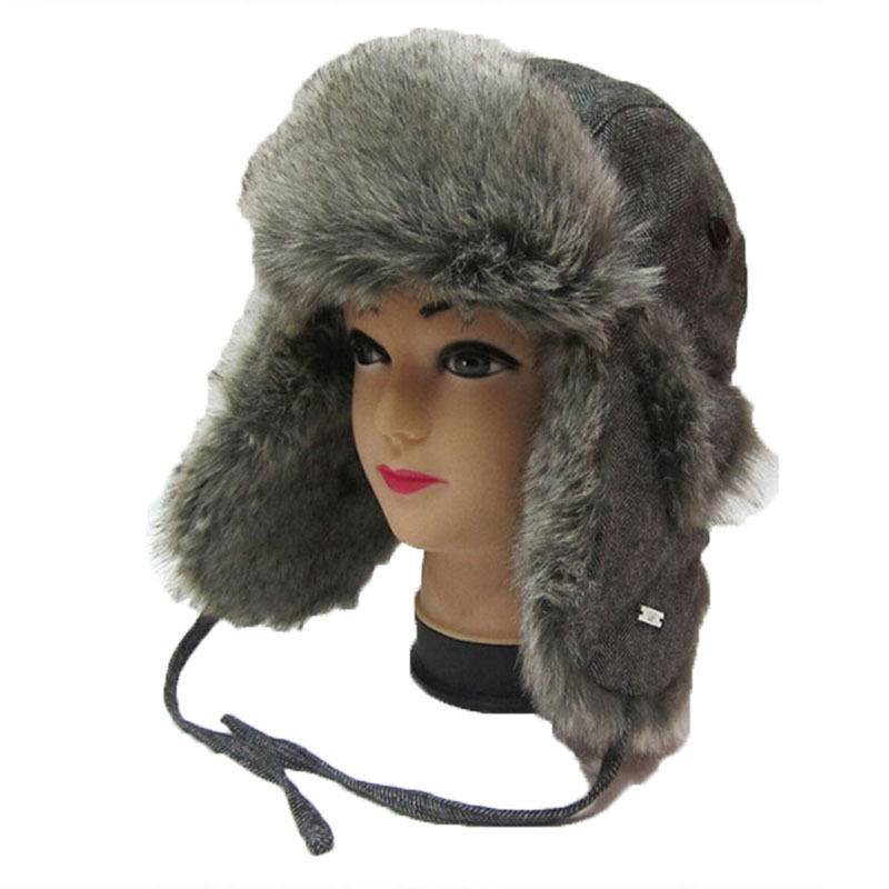 Winter Fur Hats Women Keep Warm Thickening Short Brim Russian Bomber Hat Out