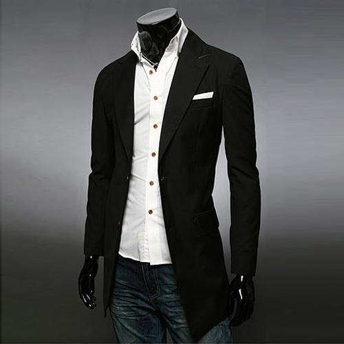 2015 New Arrival Fashion Long Blazer For Men Brand Designer Casual Solid Suit Jackets Blazers Mens Dress Jacket 13M0273Одежда и ак�е��уары<br><br><br>Aliexpress