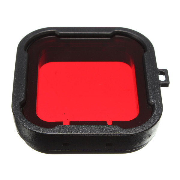 Organic Glass Polarizer Red Underwater Sea Dive Snap On Water Filter for GoPro Hero3+ / 3 Plus(China (Mainland))