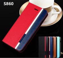 Чехол для Lenovo S860, бизнес и стойка перевёрнутый кожа чехол для s 860 чехол мобильный телефон Mix цвет