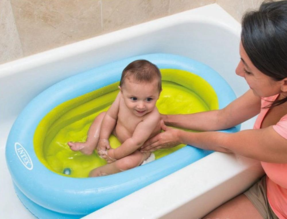 Baby kids Portable Inflatable swimming pool children bathtub with air inflator 86cmx64cmx23cm(China (Mainland))