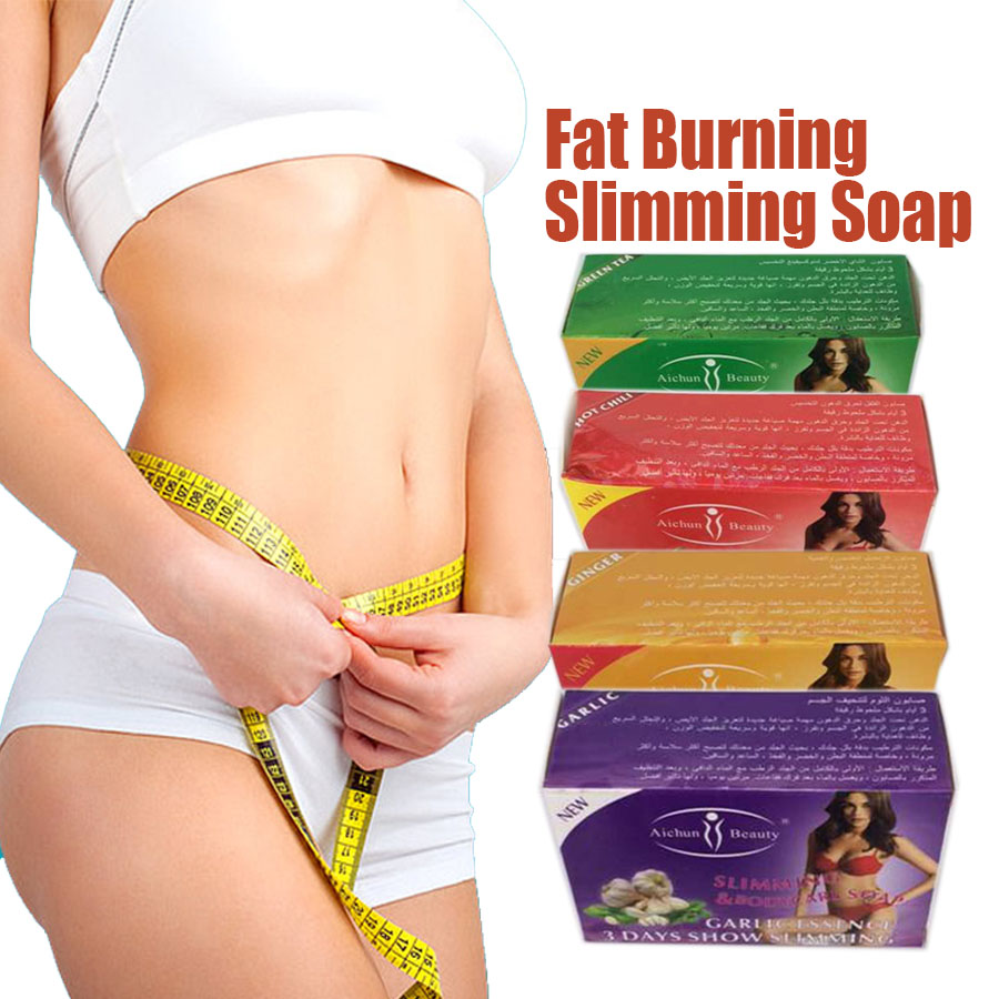 100g Fat burning slimming soap weight loss firm skin and whitening,4 different types (Tea/Chilli/Garlic/Ginger) body shaper(China (Mainland))