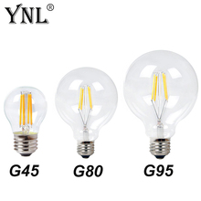 Buy YNL Vintage Antique Retro 220V LED Filament Light E27 LED Bulb G45 G80 G95 Glass Bulb Lamp 2W 4W 6W 8W Warm White Edison Bulb for $1.45 in AliExpress store