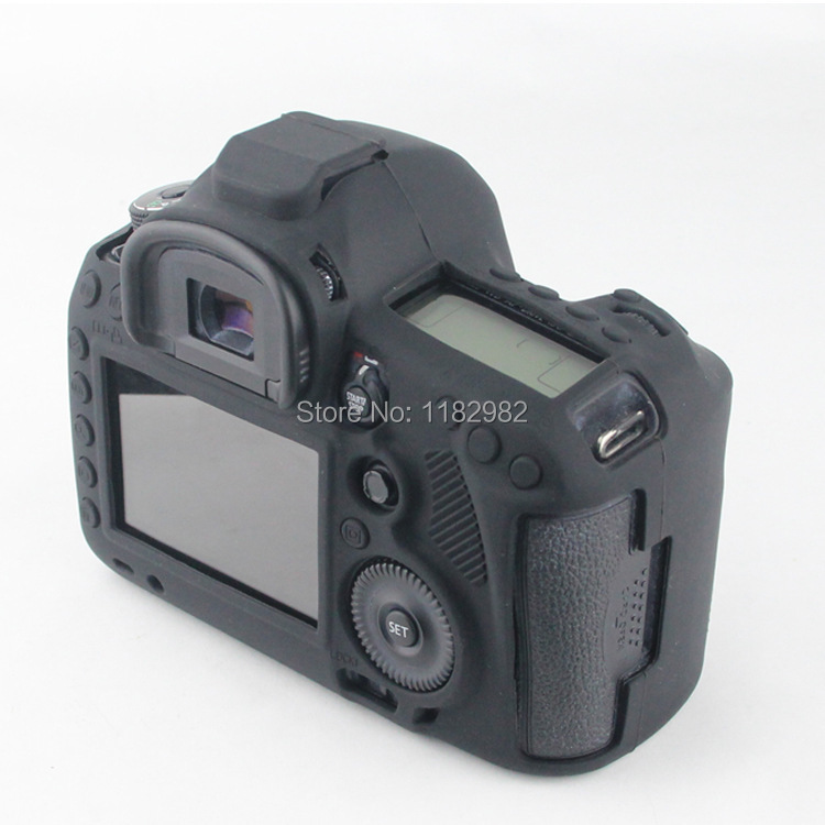 Nice Soft Silicone Rubber Camera Protective Body Cover Case Skin For Canon 5D Mark III 5DS 5DR Camera Bag(China (Mainland))