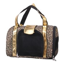 Boutique Printing Leopard Pet Carrier Pet Bag Tote for Cat Dog(China (Mainland))