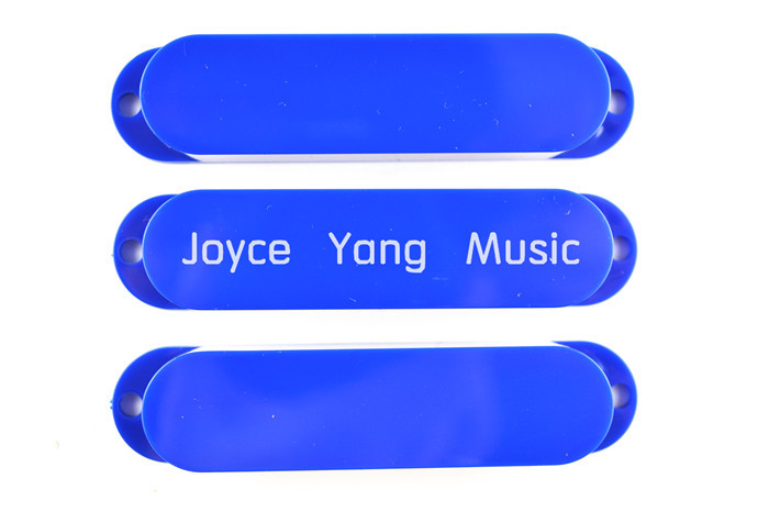 New Blue No Hole Closed Single Coil Pick up Covers For Fender Strat Style Electric Guitar Free Shipping Wholesales(China (Mainland))