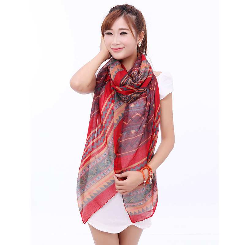 2016 Large Winter Soft Scarf Bohemia Trendy Female Shawl Striped Geometry Fashion Scarves 3S019(China (Mainland))
