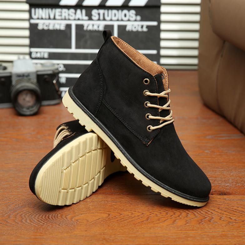 Новый 2015 осень весна мужской обуви качество свободного покроя высокого верха мода мужской обуви размер 39 ~ 44