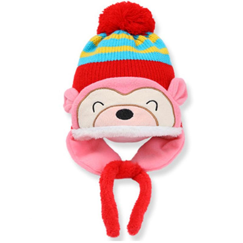 2016 winter Korean version new baby hat cute bear newborn hat baby colorful baby winter hat baby hedging cap(China (Mainland))