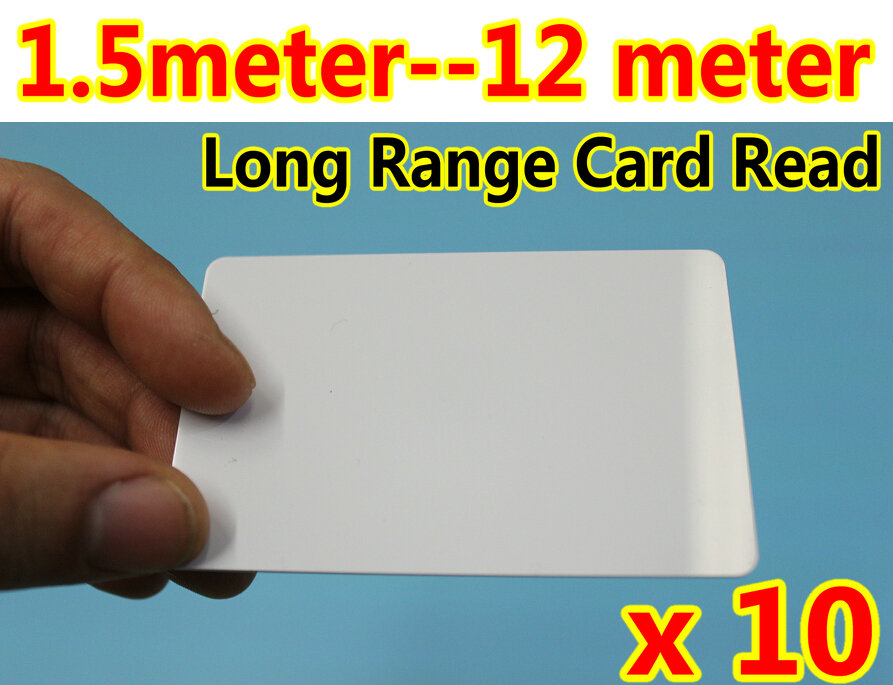 1.5 Meter --12 Meter Long range UHF RFID cards with 860~960MHz Reading RFID Tag/LF/ For Car Parking System Long Detection 10pcs(China (Mainland))