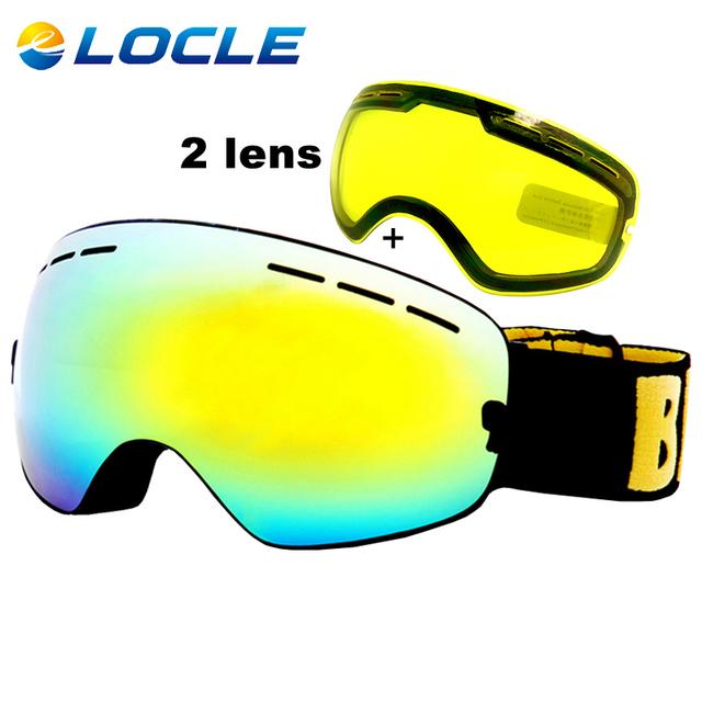 ЛОКЛЬ противотуманные Лыжные Очки UV400 Лыжные Очки Двойной Линзы Лыжи Сноуборд Очки Лыжные Очки С Одной Яркости объектив