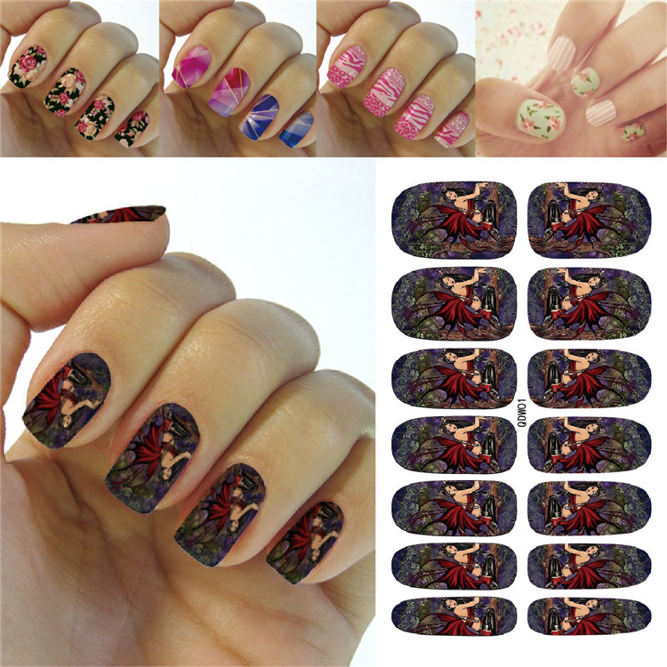 K5687 Water Transfer Foil Nails Art Sticker Fashion Cartoon Halloween Easter Manicure Decor Decals Wraps Foil Sticker for Nail(China (Mainland))